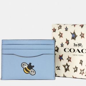 Coach Bumblebee Leather Card Case